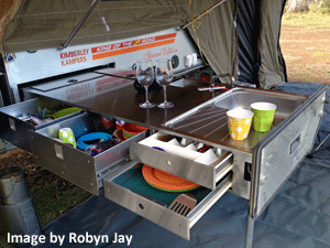 Camper Trailer Kitchen Draw