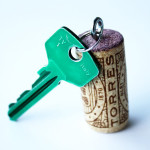 Keys on a cork
